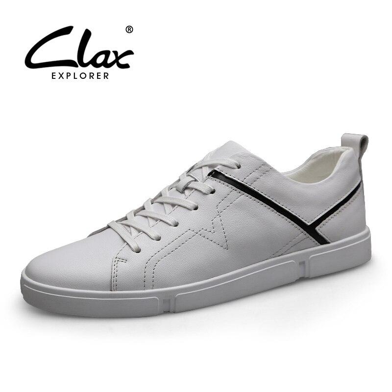 CLAX Mens Leather Shoes 2019 Mans Shoe Genuine Designer Male Walking Footwear Fashion Leisure