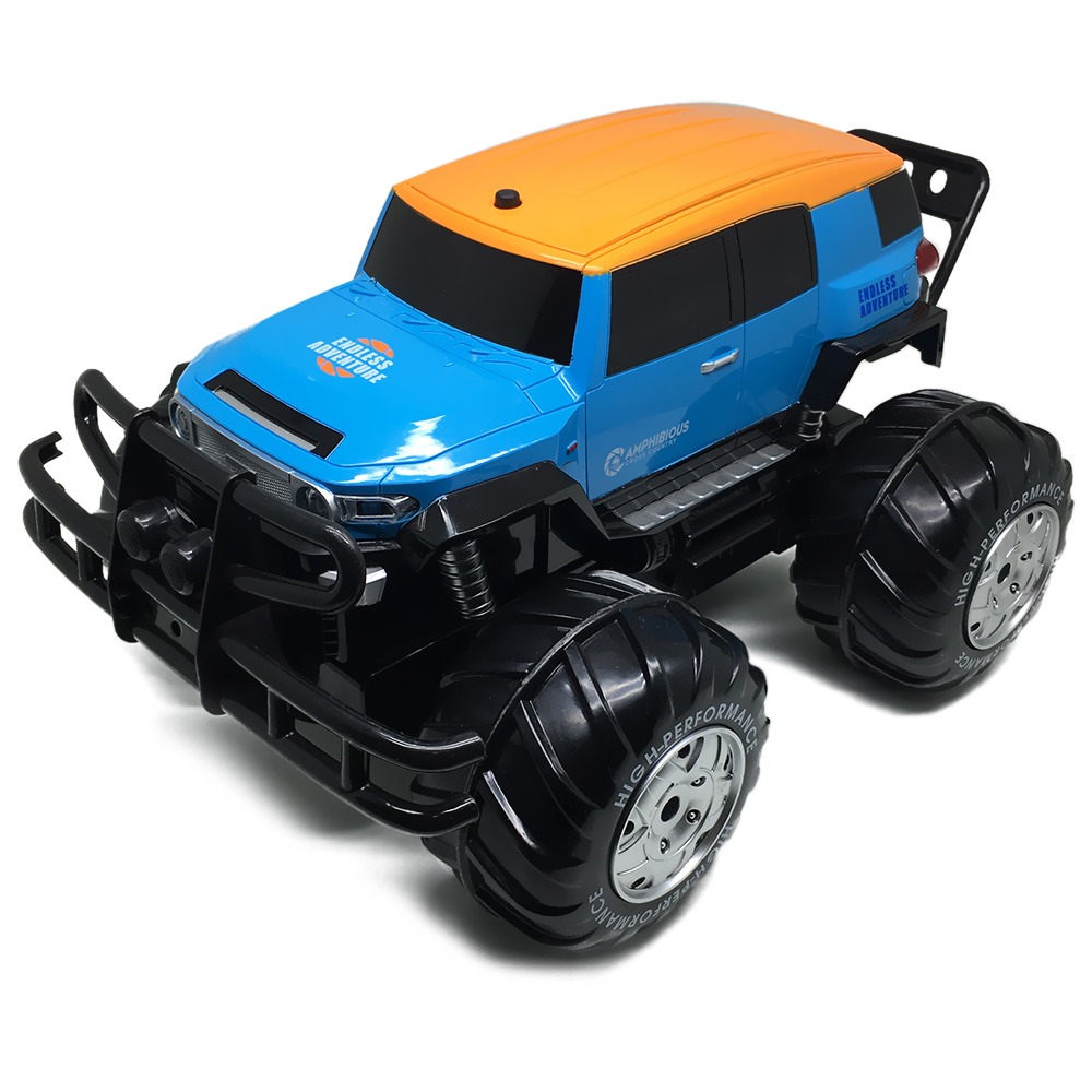 Yed RC Car 1:10 4WD All-terrain Amphibious Off-road Monster Truck 12km/h Speed Remote Controller Car