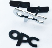 3.15$/set car styling hood grille grill badge with opc logo emblem brands marks black/silver color