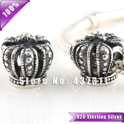 Authentic 925 Sterling Silver Royal Crown Charm King Crown Charms Queen Crown Pendant Beads PRINCESS CROWN Bead European  LW099
