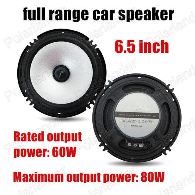 6.5 pulgadas de coches de audio de frecuencia cuerno altavoces Subwoofer altavoz de rango Completo 2x80 W caliente borde de goma espuma venta