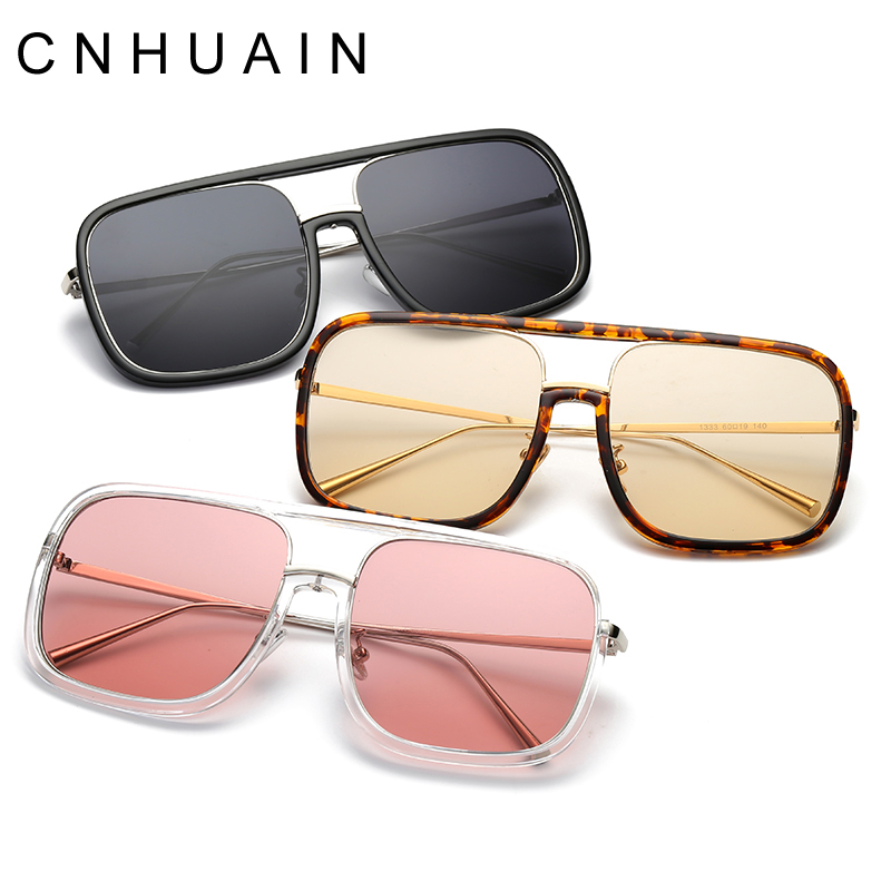 CNHUAIN font b New b font Arrival Women s glasses female Big frame font b Square