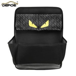 Image 1 - New car organizer Car trunk storage bag net bag thickening storage box car seat organizer waterproof material free shipping