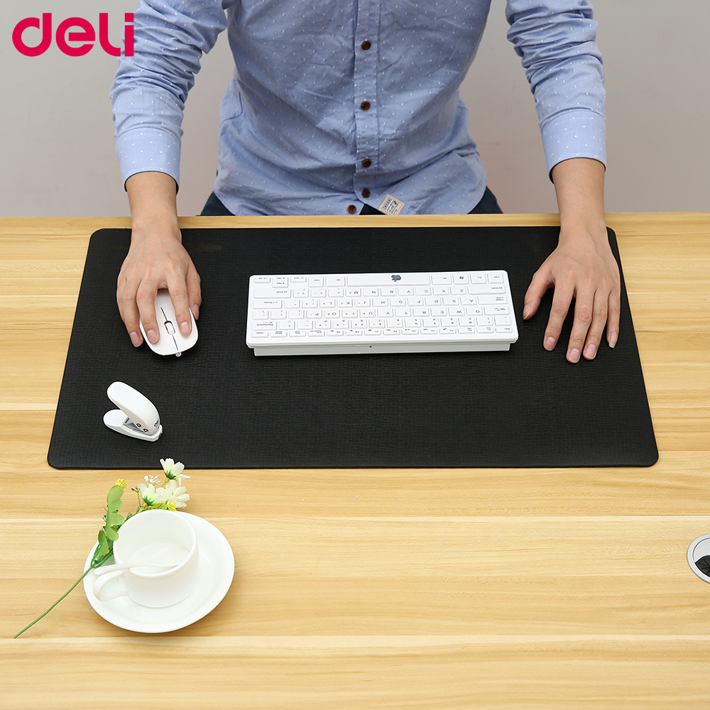 Deli big size mouse pads 18350 office desk pads waterproof good quality table mats functional mouse pad