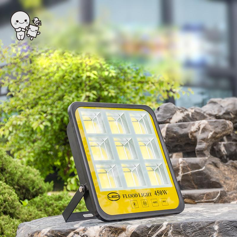 Outdoor 50W100W150W200W300W450W Hight Brightness Flood Light Fixture Waterproof Spotlight Lamp for Factory Park Road Project