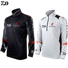 7880d53538b DAIWA Black White Fishing Clothing Men Plus Size 5XL Summer Breathable Dry Sun  UV Protection Sportswear Outdoor Fishing Shirts