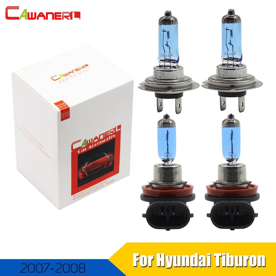 Cawanerl 4 X 100w Car Light Source Headlight Halogen Lamp For Hyundai Tiburon Coupe 2007 2008