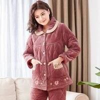 0f11b66a76 J Q New Sleepwear For Women Winter Pyjamas Women Pajamas Velvet Cotton  Padded Pajamas Winter Nightie