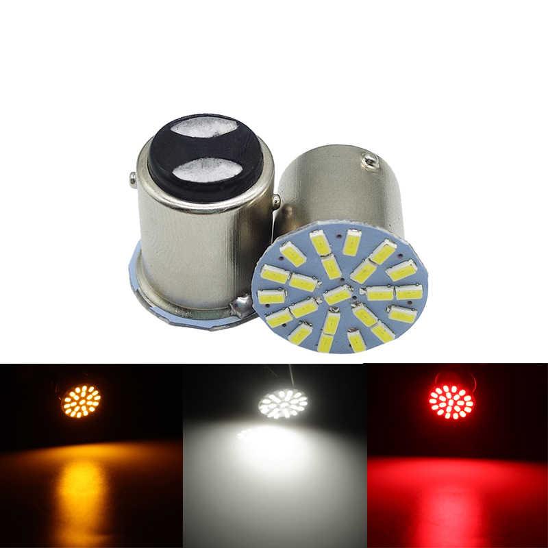 1 Chiếc P21W 1156 BA15S 1157 Bay15d 22SMD Xe Ô Tô Bóng Đèn LED Tự Động Sau Biến Tín Hiệu Đèn Phanh Ngược Đậu Xe Đèn DC 12V Trắng 22 SMD