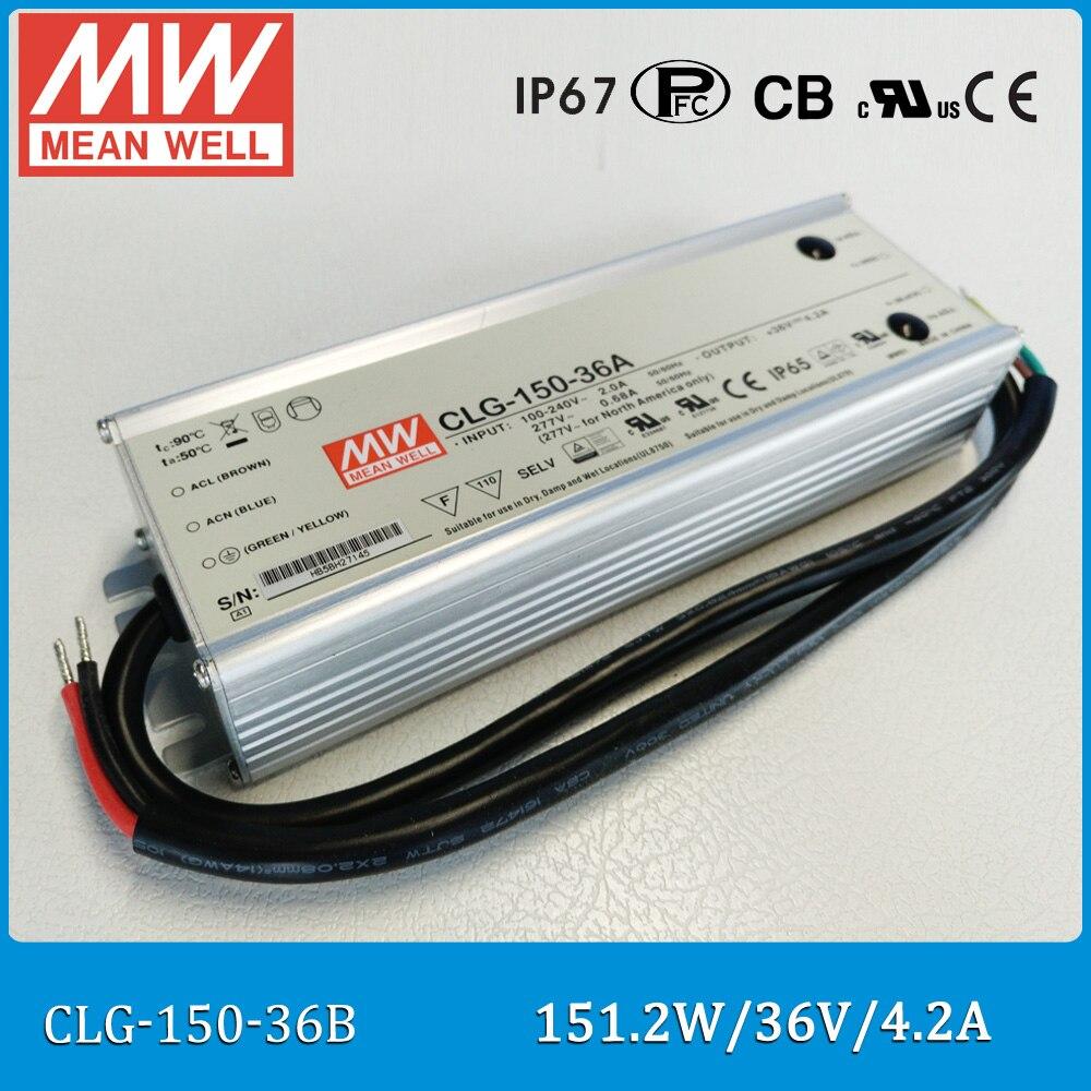 Driver LED mean well d'origine CLG-150-36B sortie unique 150 W 36 V 4.2A moyenne bien étanche alimentation étanche IP67 CLG-150