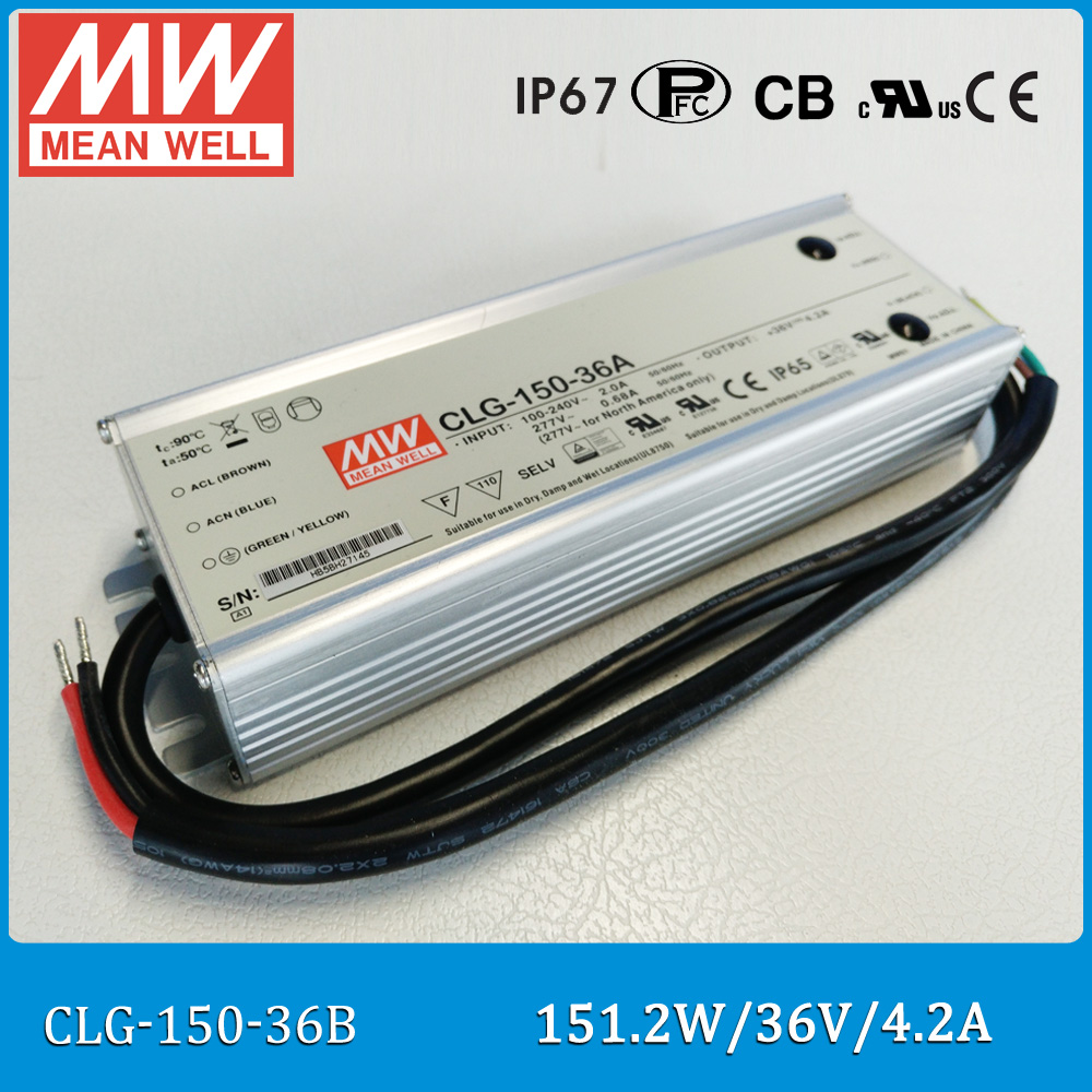 цена на Original Meanwell LED driver CLG-150-36B Single output 150W 36V 4.2A mean well waterproof Power Supply waterproof IP67 CLG-150