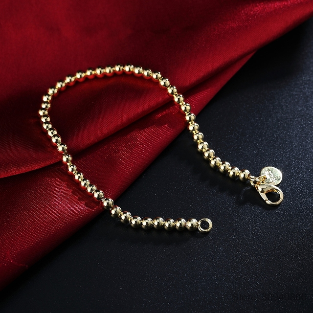 LEKANI Sterling Silver Beads Chain Bracelet  4