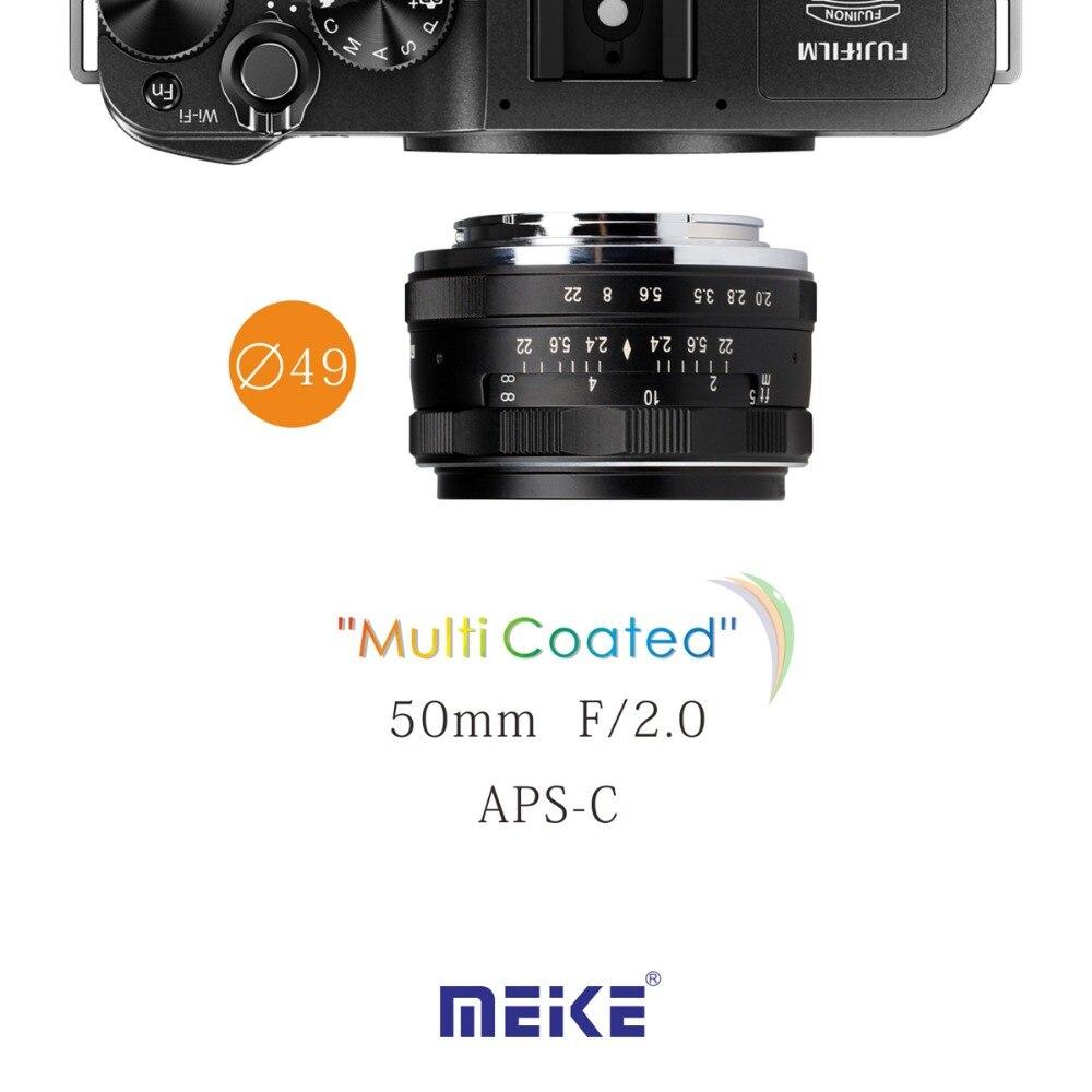 MEKE MK-E-50-2.0 50mm f2 f/2.0 fixed manual large aperture lens Fuji Mirrorless Camera lens mf2300 f2