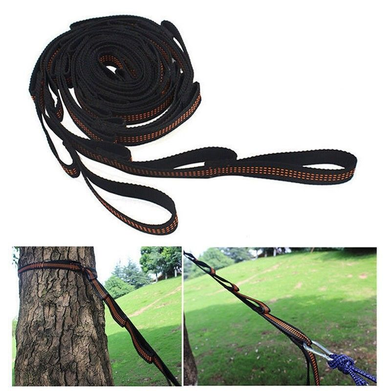 2pcs Hammock Strap Hanging Tree Strap Rope Belt For Camping Traveling