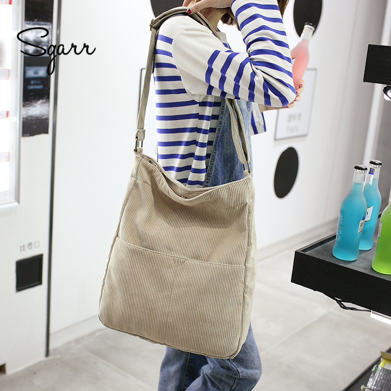 SGARR High Quality Canvas Women Handbags Large Capacity Casual Ladies Shoulder Crossbody ...