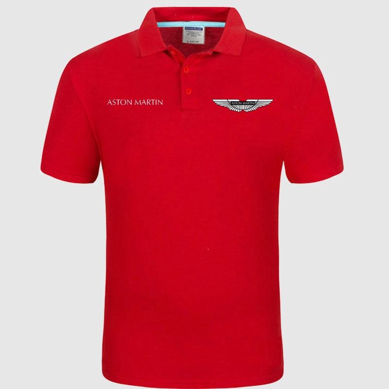 High quality logo crocodil Aston Martin logo   Polo   classic brand Men   Polo   Shirt Men Casual solid Short Sleeve cotton   polos
