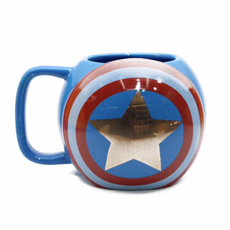 מארוול נוקמי קפה ספלי קרמיקה כוסות תה באטמן Thor סופר איש ברזל האלק איש עכביש קפטן אמריקה