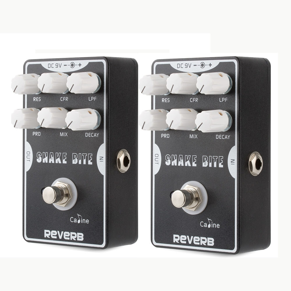 2PCS Caline CP-26 Reverb Guitar Effect Pedal Reverb Guitar Stompbox  Black Color Guitar Accessories With True Bypass caline cp 26 guitar effect pedal snake bite reverb effect pedals true bypass design with delay effect no coloring sound