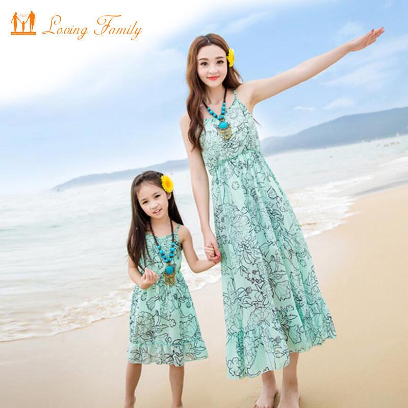 Mother Daughter Dress Matching Mother Daughter Clothes Family Clothing Mommy and me clothes mum and daughter Vestidos Family 2018 new mother daughter dress family matching outfits fashion mommy and me long dress family fitted party clothing