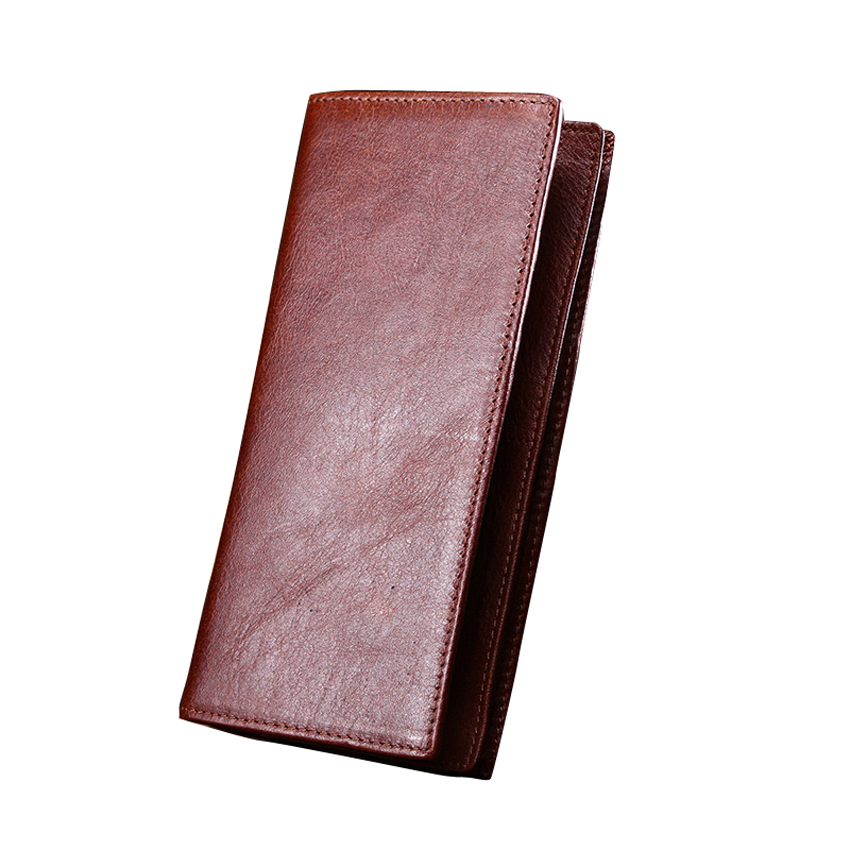 MAIFEINI New Arrival Genuine Leather Long Wallets Men Vintage Cow Leather Card Holder Coin Purse Clutch Money Bag Bolsa new arrival 2017 wallet long vintage man wallets soft leather purse clutch designer card holders business handbags clips