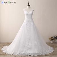 Robe De Mariage Lace Tulle White Wedding Dress 2017 A Line Vestido De Novia Casamento Vintage