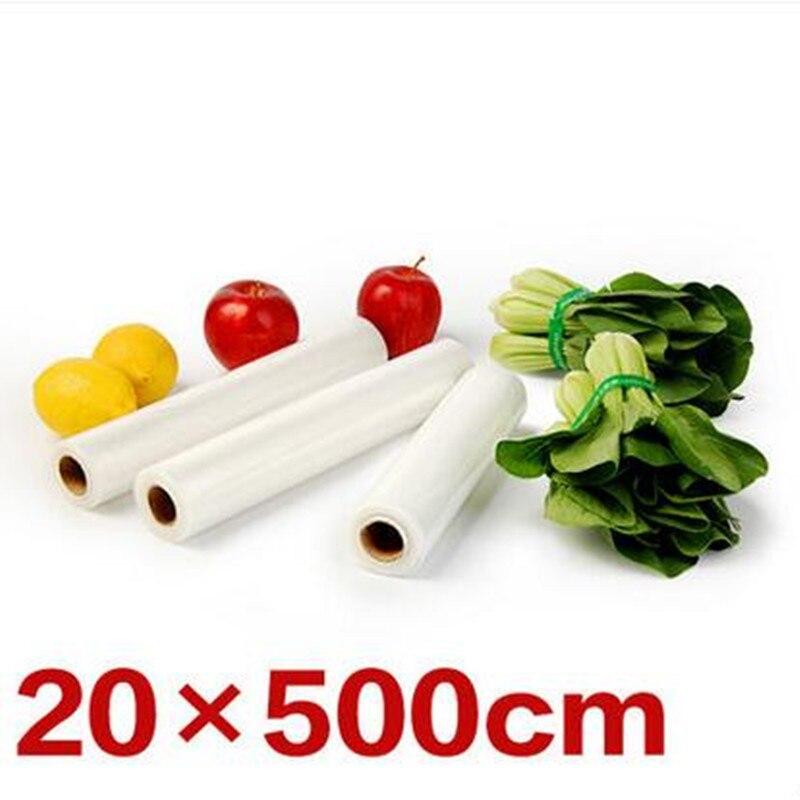 1 Roll Food Grade 20*500cm Fresh-keeping Packaging Bag For Electric Vacuum Food Sealers Packaging Bag цена