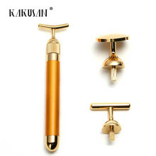 24k gold beauty roller 24k gold beauty massager 24k golden pulse facial massager for face beauty/ face lift