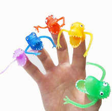 30 PCS/lot Novel new Plastic Finger Puppet Mini Dinosaur Toys With Small For Kids Children