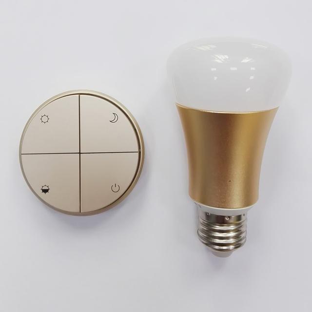Interruptor Inalámbrico sin batería Con E27 E26 Bombilla Instalar Fácilmente Sin Necesidad De Cable de Control Remoto Directamente con Cuatro Modos