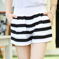 2016 summer new fashion casual plus size Stretch waist female women girls loose candy color shorts clothing clothes