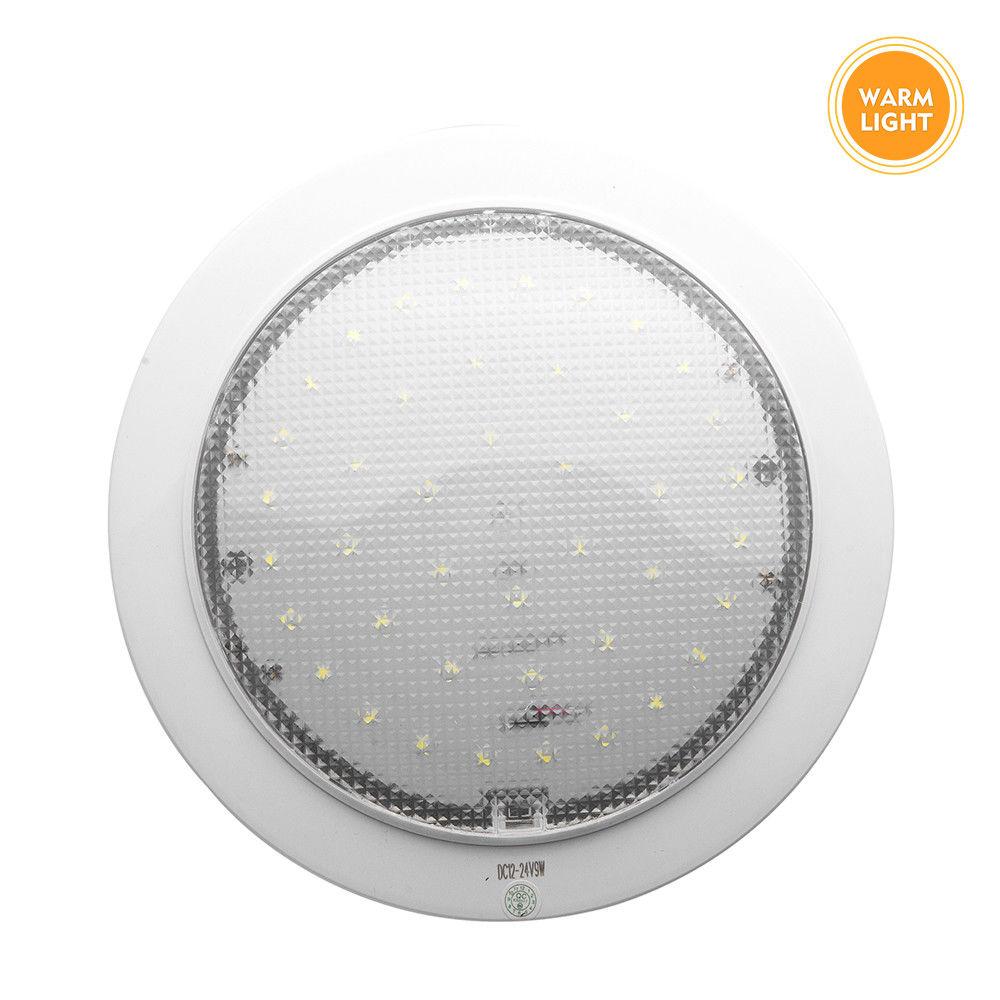 9W LED Interior Roof Ceiling Cabin Light Warm White Caravan Motorhome Lamp 12V