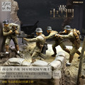 Resin soldier 1/35 resin figure 4pcs/set chinese soldier in WWII Anti-Japanese War