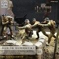 Resina soldado 1/35 figura da resina 4 pçs/set soldado chinês na SEGUNDA GUERRA MUNDIAL Guerra Anti-Japonesa