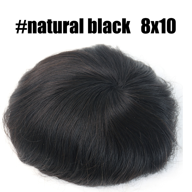 """Мужской парик 8x1"""" 8X6"""" тонкий моно центр с полипериметром волос PU мужской парик Repace мужчины t волосы протезирование долаго"""