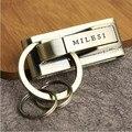 Milesi-Nuevo 2017 Hombres Llavero Clip de Cinturón Clave Tirón cadena Llaveros para Hombres Coche Llavero Regalo de La Novedad de La Baratija