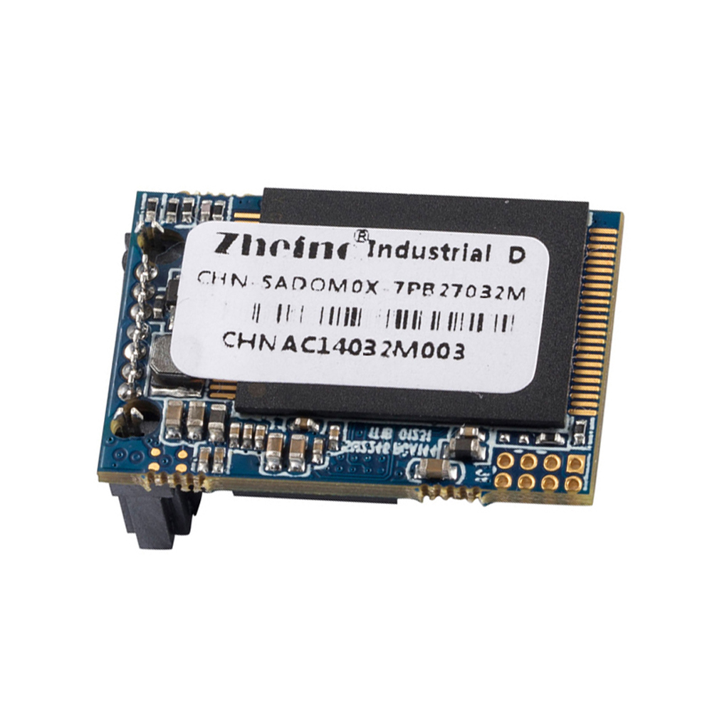Zheino New SATA3 DOM 32GB SSD Industrial Disk on Module SATAIII 6Gb/s 7Pins Horizontal (Corner) Reverse 270 Degree MLC DOM dom