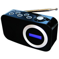 High sensitivity Retro FM radio portable radio DAB digital mobile bluetooth audio LCD display 3.5 MM input speaker 87.5 108MHZ
