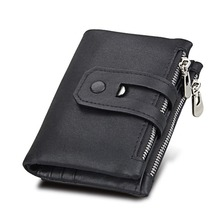 Men Wallet For Men Genuine Leather Small Men Walet Zipper&Hasp Male Portomonee Short Coin Purse Brand Perse Carteira For Rfid недорого
