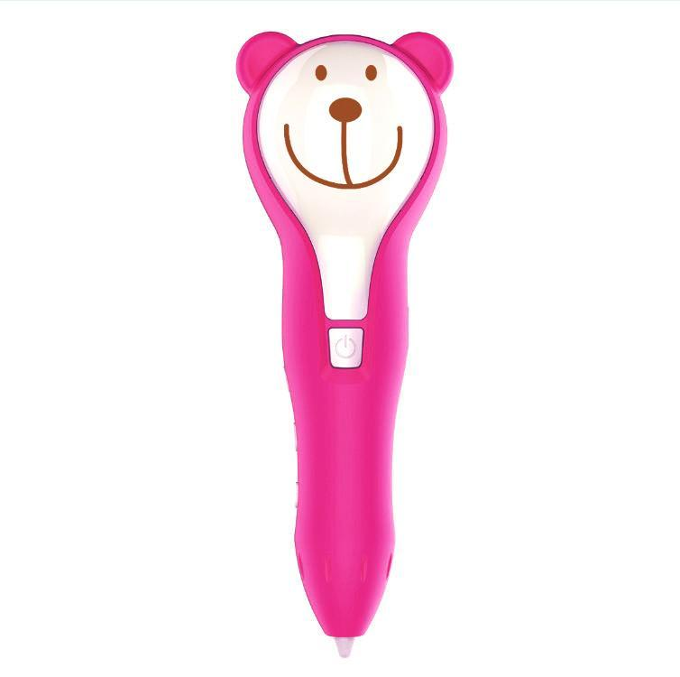 Portable Cute Animal Shape 3D Printing 5V1A By Button Pen Intelligent Drawing Pen AC 100-240V 50/60Hz 0.35A(China)