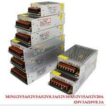 Switch power supply Led adapter AC100-240V to DC 12V 24V 5A 10A 15A 20A 30A 40A Driver Transformer for SMD 5630 5050 LED Strip