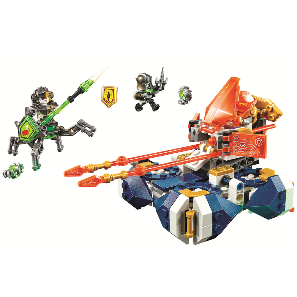 BELA Nexo Knights Lances Hover Jouster Building Blocks Sets Kits Bricks Classic Model Toys Gift Marvel Compatible Legoe Nexus pogo compatible legoe bela 10704 nexus nexo knights powers pouvoirs aaron lance clay building blocks bricks toys