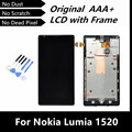 100% Tested Good Original LCD with Frame for Nokia Lumia 1520 LCD Display with Touch Screen Digitizer LCD with Frame Assembly
