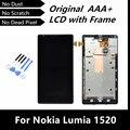 100% testado boa Original LCD com quadro para Nokia Lumia 1520 LCD com tela de toque digitador LCD com montagem de quadro