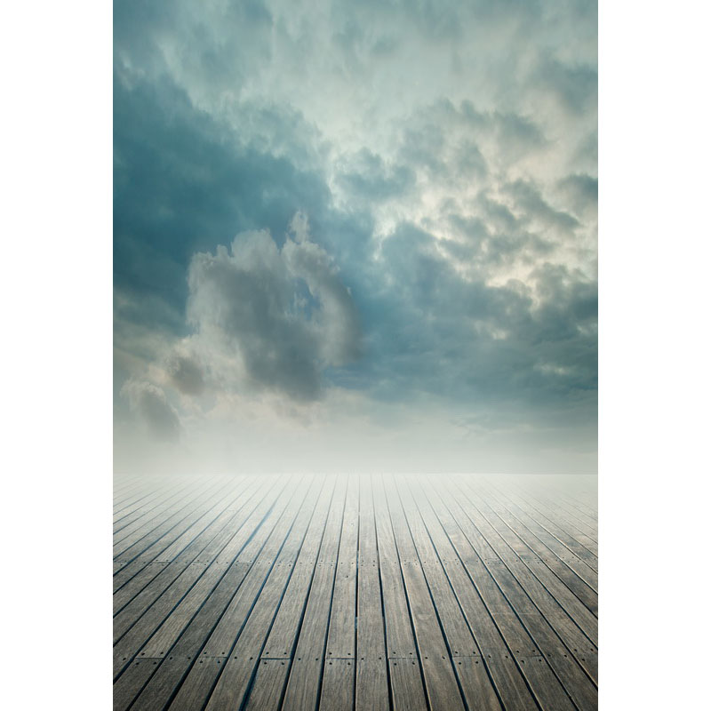 Seamless Vinyl Photography Backdrop Wooden Floor on the Sky Computer Printed Scenic Nature Backgrounds for Photo Studio F-3163 photo vinyl backdrop top promotion studio photography backgrounds 6 5ftx10ft 2x3m computer paint foldable free shipping