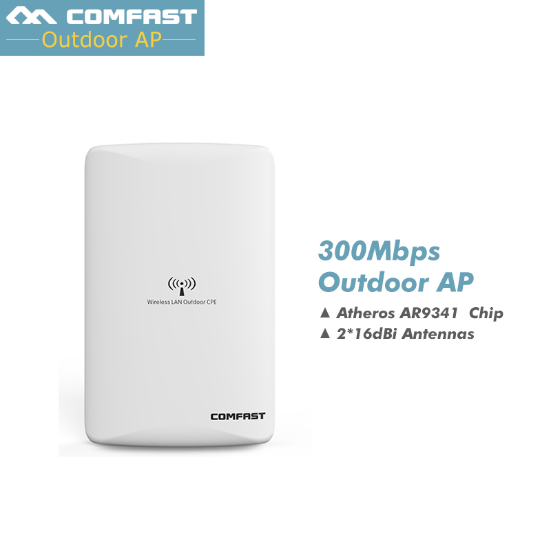 COMFAST CF-WA300 Wireless Outdoor wifi CPE AP 300Mbps Comfast AR9341 Dual 16dBi Wi fi Antenna Network Bridge Router For school comfast cf e214nv2 2 4g wireless outdoor router 2km wifi signal booster amplifier wds network bridge 14dbi antenna wi fi access