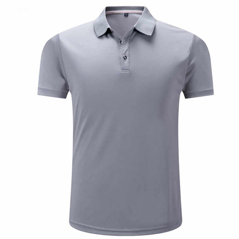 Yeni erkek Polo gömlekler erkekler tasarımcı Polos katı renk erkekler pamuk kısa kollu gömlek elbise formalar Golf tenis Polo büyük boy 4XL