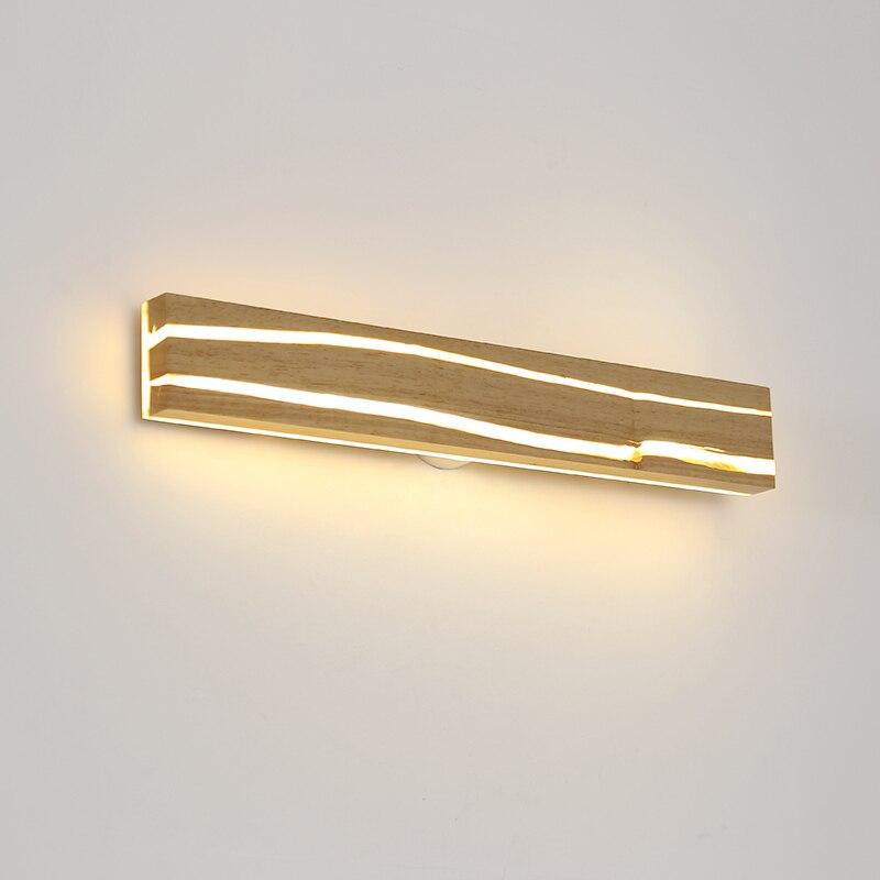 Современный простой деревянный светодиодный настенный светильник, зеркало для ванной комнаты, фара для спальни, зеркальный шкаф, туалетный