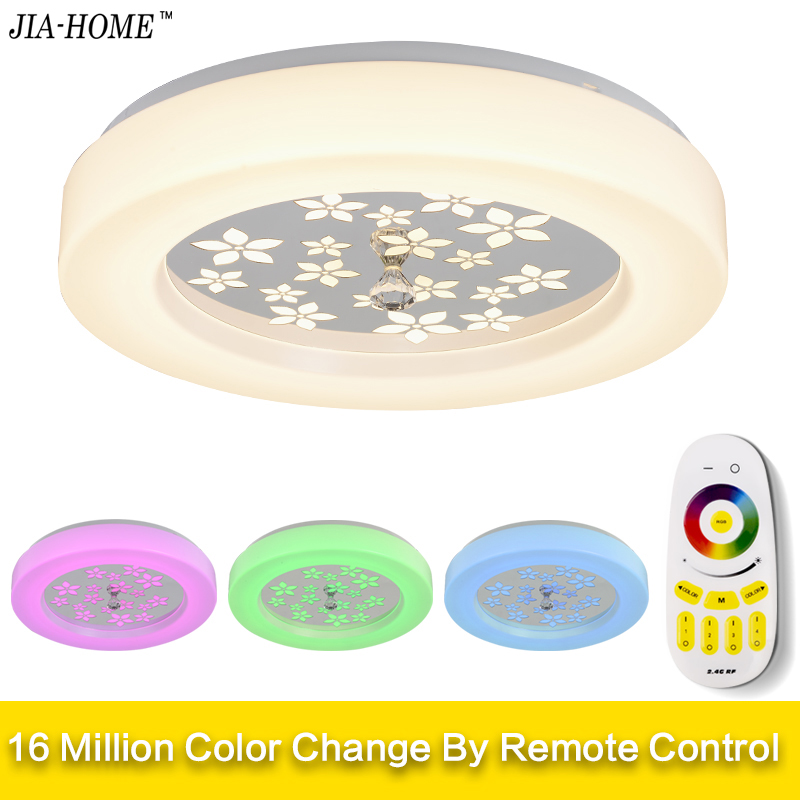 LED Ceiling Lights Lamp Luminaria Ceiling Light With Remote Control Dimmable Color And RGB Changing Fixtures Lustre Plafonnier led heart lights creative flashing light colorful plastic table lamp rechargeable color changing with remote control 4pcs lot