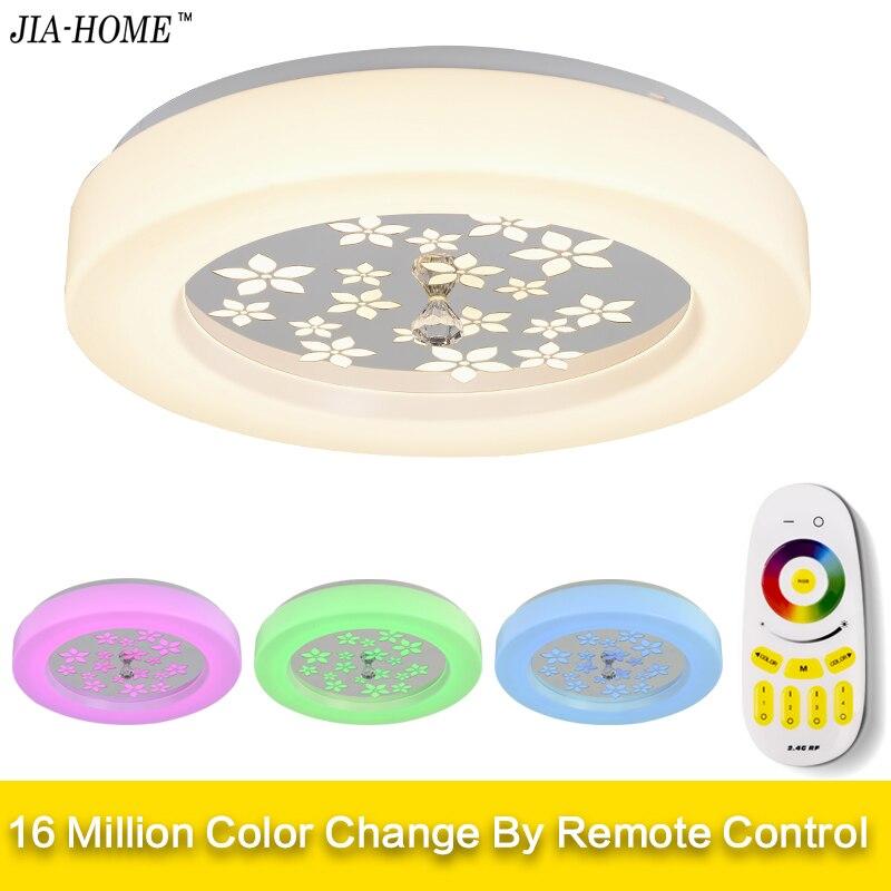 Luci di Soffitto del LED Lampada Luminaria Luce di Soffitto Con Telecomando Dimmerabile Colore E RGB Che Cambia Apparecchi di Lustro Plafonnier