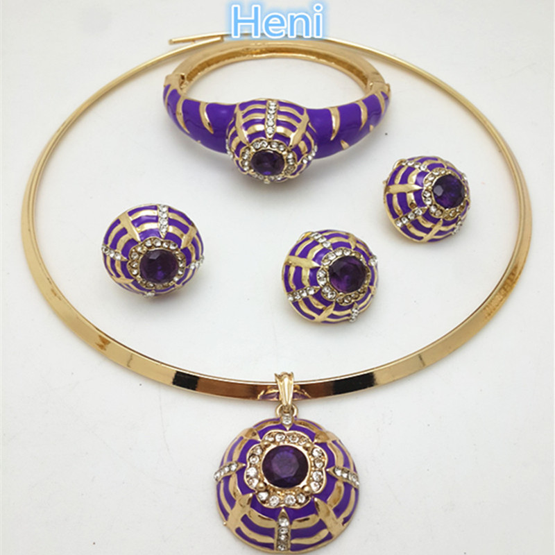 ZuoDi dubai gold jewelry set brand colorful Crystal Wedding Women Bridal Accessories fashion african beads